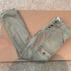 Joie So Real Skinny Jeans in Olive Green, size 26